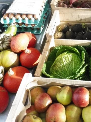 Marché fruits et légumes