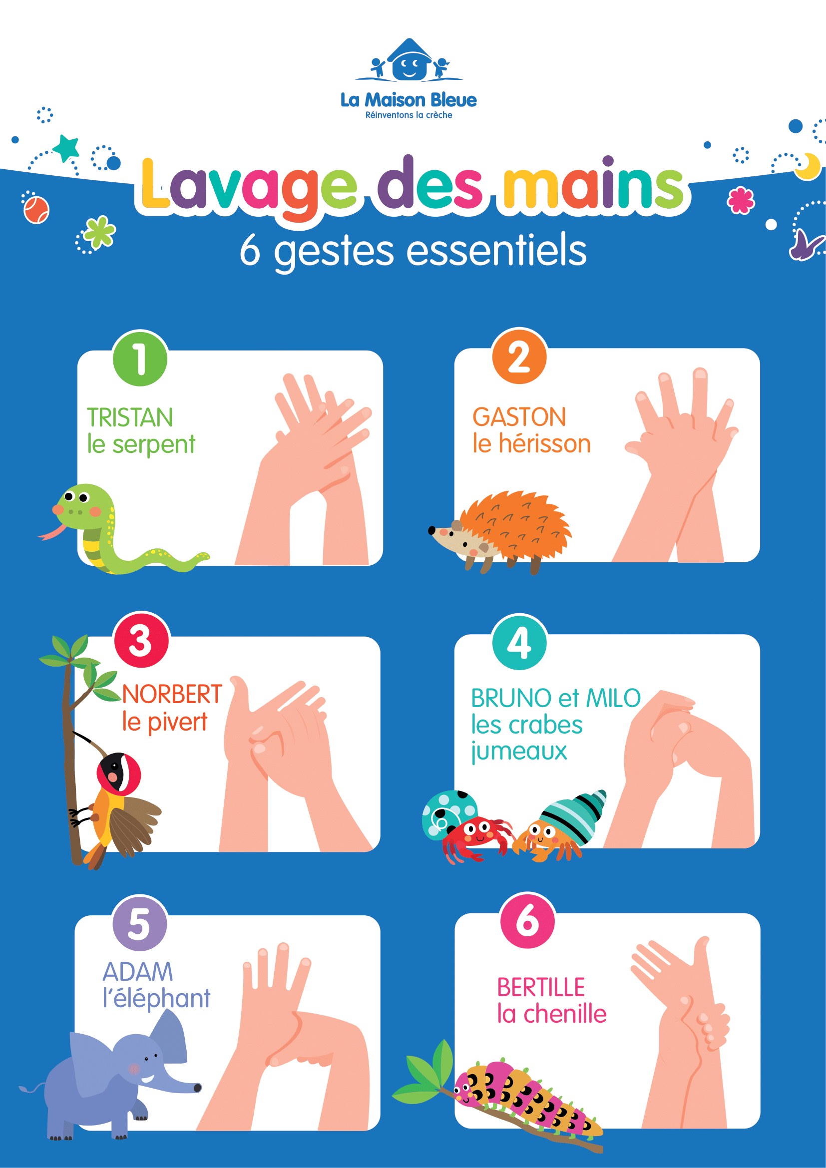 Affiche lavage des mains Coronavirus
