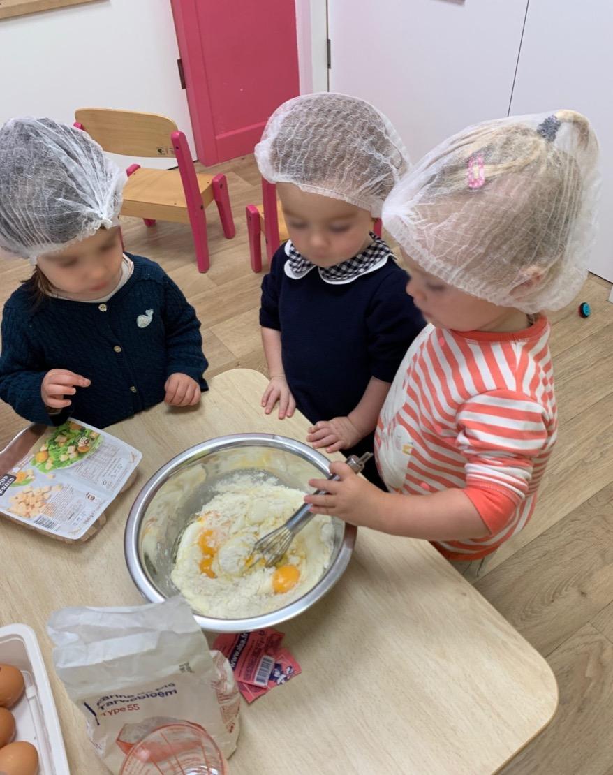 Atelier tarte aux légumes - La Semaine du Gout - Creche Safran à Saint Malo