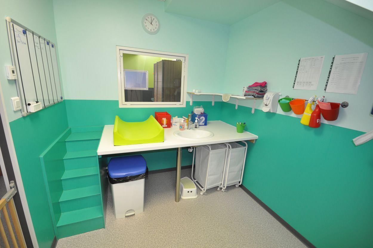 salle de change micro-crèche Ste Anne