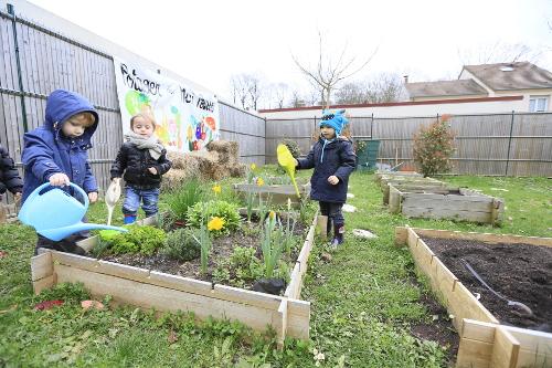 Comment cr er un potager p dagogique dans son jardin la maison bleue - Comment faire un potager dans son jardin ...